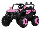 Indalchess Buggy Rodeo 12v 4x4 Coche eléctrico Infantil, Rosa-Pink, Mando RC - ATRODEOPINK