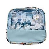 Cuidado Del Bebé Y Belleza Cuidado De Uñas Kit Con Lima De Uñas Clippers Cepillo Tijeras Bebé Peine Cepillo De Dientes Cepillo De Dientes Dedo Adecuado Para Recién Nacidos Productos Del Bebé Azul