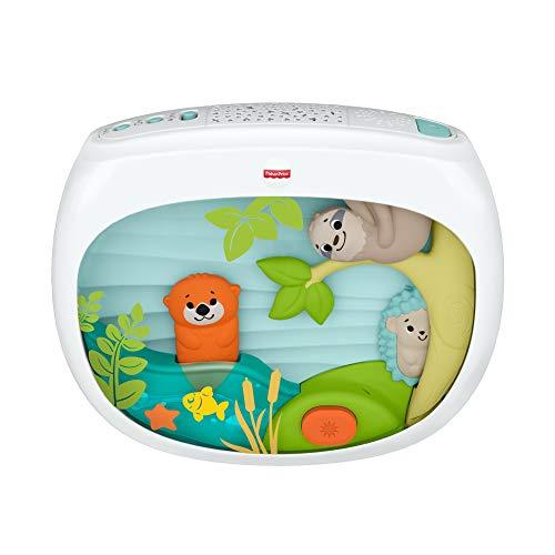 Fisher-Price veilleuse bébé à accrocher au lit ou à poser, avec animations, projection de lumière, musiques et sons, FXC59