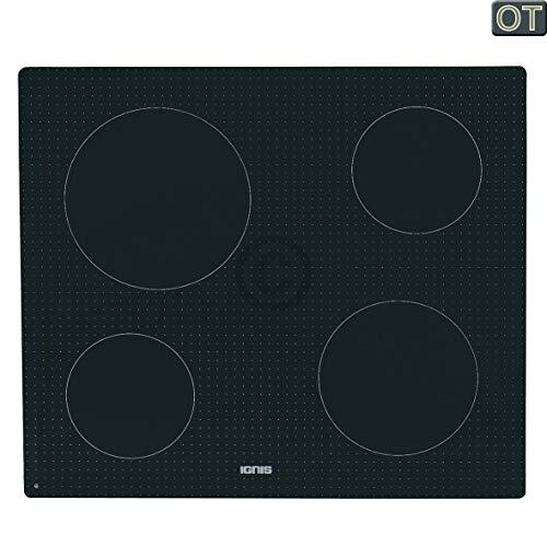 Glaskeramische plaat voor kookplaat 580x510 mm Ignis Bauknecht Whirlpool 481010496981