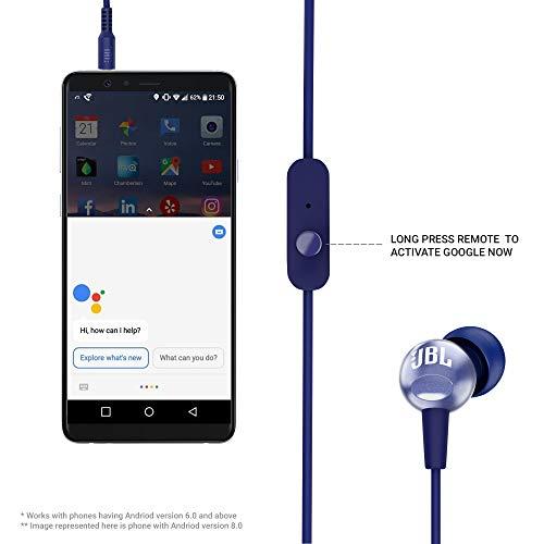 JBL C200SI by Harman Super Deep Bass in-Ear Premium Headphones with Mic (Mystic Blue)