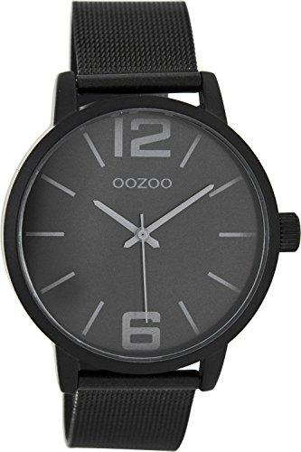 Oozoo Damenuhr mit Milanaise Metallband 40 MM Black/Schwarz/Schwarz C7979
