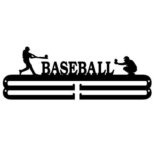 runnerequipment Eisen Rugged Medaillenhalter Baseball Race Medal Rack Home Wandbehang Dekoration Schwarz