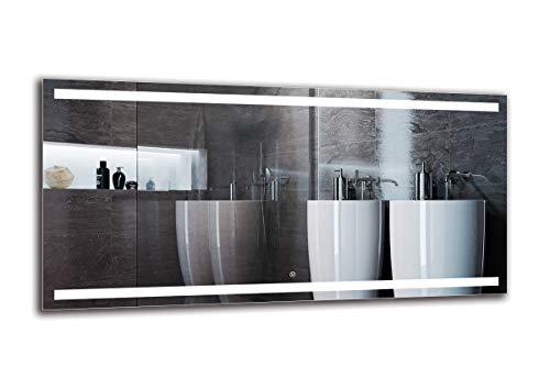 Specchio LED Deluxe - Dimensioni dello Specchio 140x70 cm - Interruttore tattile - Specchio per Bagno - Specchio a Muro - Specchio con Illuminazione - ARTTOR M1ZD-30-140x70 - Bianco Freddo 6500K