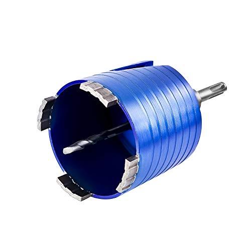 S&R Diamantbohrkrone - SET 68mm, Dosensenker, Kernbohrkrone, Segmenthöhe 10mm, mit Zentrierbohrer 8x120 mm, SDS-plus Adapter, in runder stabiler Box mit Aufhängung