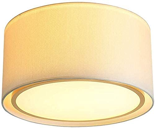 Waqihreu Cortinas de luz de Techo para Pasillo, Pantalla de Tambor de Tela Redonda Moderna, Accesorio de iluminación de Montaje Empotrado para Entrada, balcón, Pasillo E27, 4 lámparas