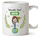MUGFFINS Mom Mug - World's best Mom - Coffee Mummy Mug for Breakfast Mothering Sunday/Birthday Presents for Mom/Ceramic 11 oz