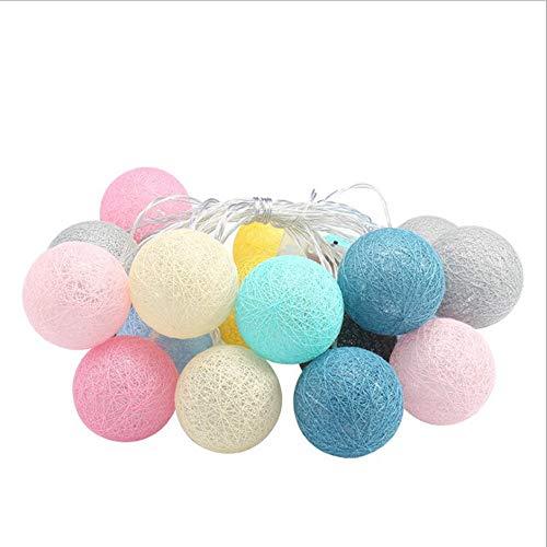 Led Lampe Thai Baumwolle Linie Ball String weihnachtsbeleuchtung batterielichter Urlaub Dekoration Lichter Macarons mädchen Herz Baumwolle Ball Outdoor Garten Lichterkette (ohne Batterie)