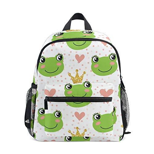 CPYang Kinder-Rucksack süßer Frosch gepunktet Schultasche Kindergarten Kleinkind Vorschulrucksack für Jungen Mädchen Kinder