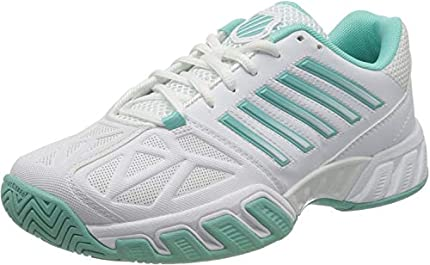 K-Swiss Performance Bigshot Light 3, Zapatillas de Tenis Mujer, Blanco (White Aruba Blue 121), 43 EU