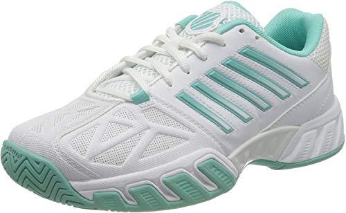 K-Swiss Performance Bigshot Light 3, Chaussures de Tennis Femme, Blanc (White Aruba Blue 121), 36 EU