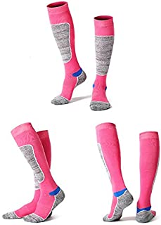 Winter Ski Socks Men Women Hiking Sport Snow compression Unisex Cotton Long Snowboard Sock Foot Moist Control Travel Running AU