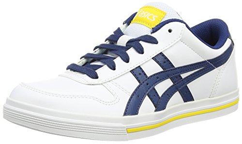 ASICS Aaron Gs, Unisex-Erwachsene Sneakers, Weiß (White/Poseidon 0158), 37 EU