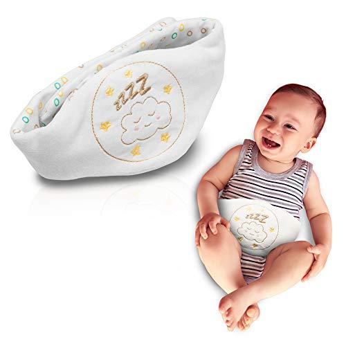 Babyjem Kirschkernkissen - Größenverstellbarer Wärmekissen für Babys - Dinkelkissen ideal geeignet bei Bauchschmerzen und Blähungen - Körnerkissen aus hochwertiger Baumwolle