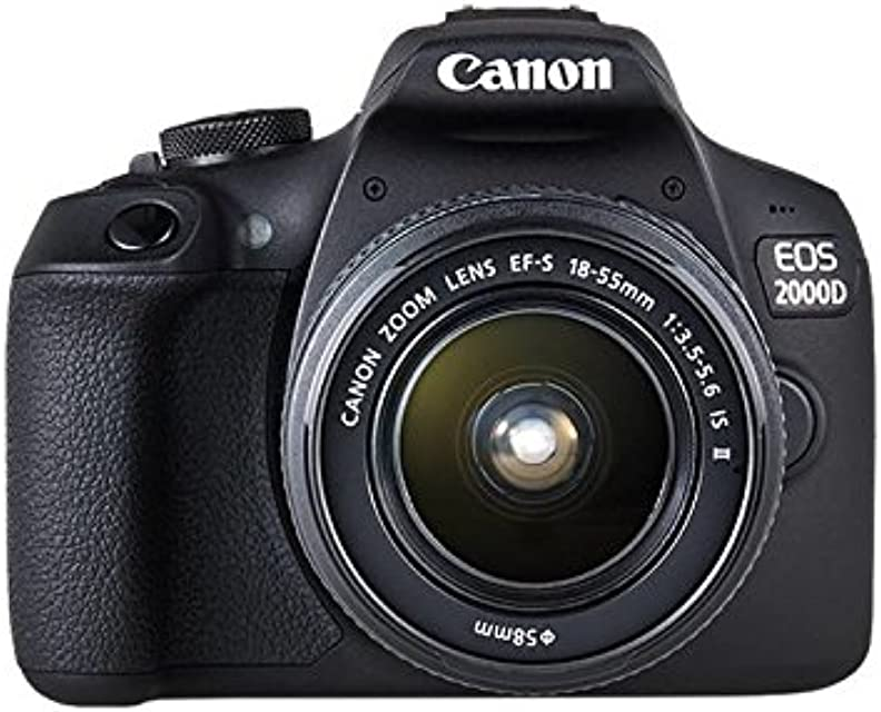 Canon EOS 2000D + EF-S 18-55mm f/3.5-5.6 IS II Juego de cámara SLR 241 MP CMOS 6000 x 4000 Pixeles Negro - Cámara digital (241 MP 6000 x 4000 Pixeles CMOS Full HD 475 g Negro)