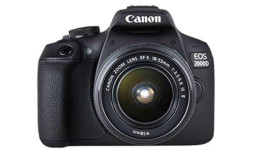 Canon EOS 2000D + EF-S 18-55mm f/3.5-5.6 IS II Juego de cámara SLR 24,1 MP CMOS 6000 x 4000 Pixeles Negro - Cámara digital (24,1 MP, 6000 x 4000 Pixeles, CMOS, Full HD, 475 g, Negro)