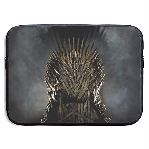 Fashion Game Thrones Laptop Sleeve Bag Tablet Briefcase Ultraportable Protective Cover Neoprene for MacBook Pro/MacBook Air/Notebook Computer 13 inch Black