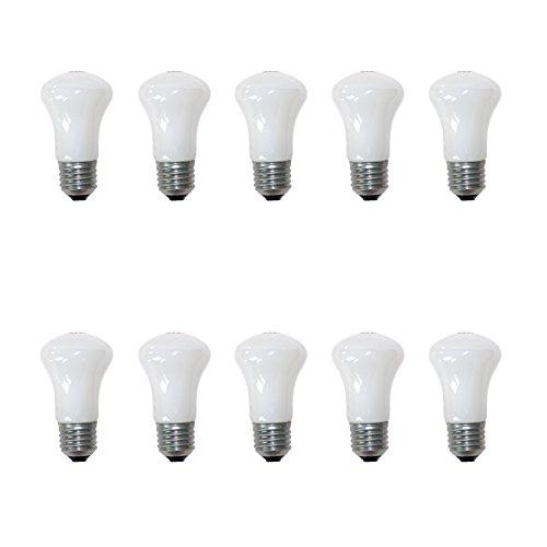 10 x Krypton E27 Pilzform 40 Watt opal weiß Glühbirne Glühlampe Glühbirnen dimmbar (40W)