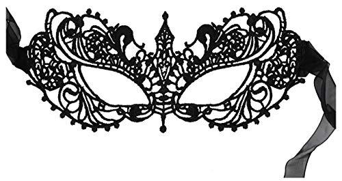Luxury Mask Women's Stunning All Black Lace Masquerade Mask Ana