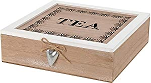 Boîte à thé en bois avec compartiments, boîte à thé
