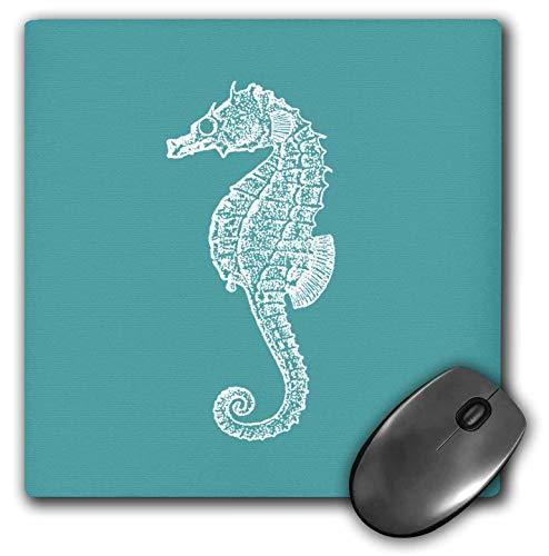 Mauspad Teal Blue Seahorse Print Seepferdchen Ocean Marine Beach Aquarium Aquatic