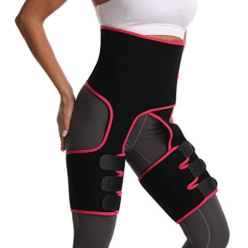 Vintoney Oberschenkel-Trimmer, Taillen-Trainingsgürtel Taillenmieder Bauchweggürtel Sportgürtel Trainer Hüftgürtel für Damen Korsett Beingürtel Verstellbarer 3-in-1 (XL)