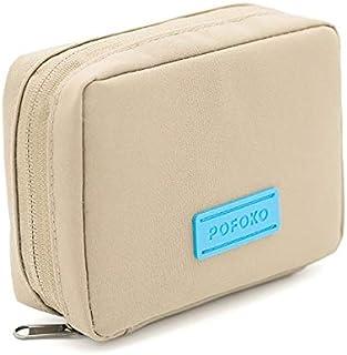 SHIqu E150 Series Waterproof Polyester Accessories Storage Bag, Size: 16 x 12 x 5cm (Black)(Green)(Khaki) (Color : Khaki)