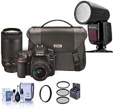 $1365 » Nikon D7500 DSLR with AF-P DX NIKKOR 18-55mm VR & 70-300 ED VR Lenses & Nikon Bag - with Flashpoint Zoom Li-on X R2 TTL On-Camera Round Flash for Nikon, 55mm Filter Kit, 58mm UV, Cleaning Kit