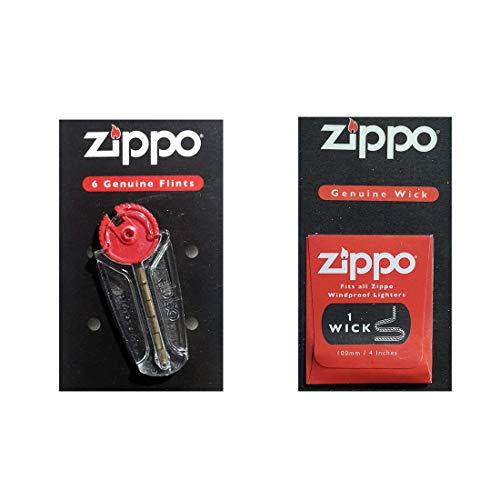 Imagen del productoZippo - Mecha y piedra original para mecheros Zipp resistentes al viento