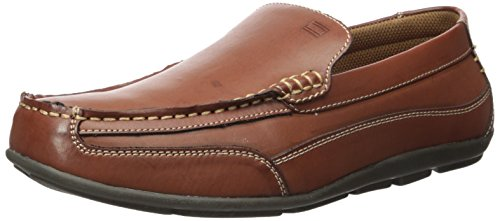 Tommy Hilfiger Men's Dathan Driving Style Loafer, Light Brown Leather, 11.5