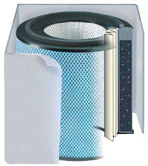 Austin Air HM400 Healthmate Replacement Filter w/Prefilter (Light-Colored) FR400B, White