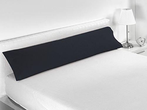 Sabanalia Combina - Funda de almohada (disponible en varios tamaños y colores), Cama 150 - 170 x 45, negro