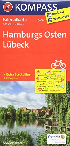 KOMPASS Fahrradkarte Hamburgs Osten, Lübeck: Fahrradkarte. GPS-genau. 1:70000 (KOMPASS-Fahrradkarten Deutschland, Band 3008)