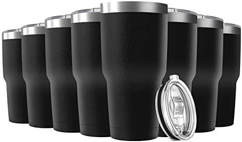 Deitybless 30oz Stainless Steel Travel Mug with Lid 8 Pack Double Wall Vacuum Insulated Bulk product image