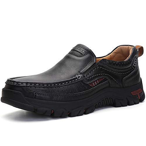 TAIGEL Mens Slip On Loafers Leather...