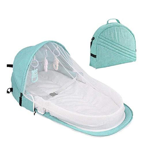 AGKupel Portátil Cambiador, Cama de bebé de viaje protección solar mosquitera con...