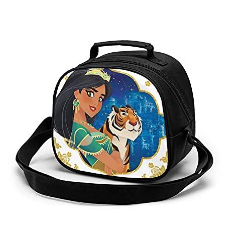 KINGAM Aladdin Magic Lamp - Bolsa de comida para niños, reutilizable, resistente al agua y que conserva el calor, bolsa de almuerzo portátil para estudiantes, oficina, trabajador de poliéster