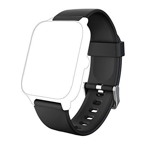 IOWODO Smartwatch R2,R3Pro,X2- Cinturino di ricambio per orologio smart (20 mm, Nero)