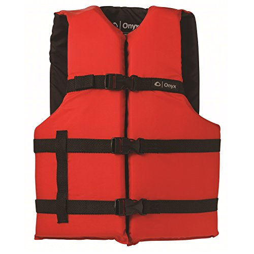 %17 OFF! Onyx Adult General Purpose Life Jacket, Red
