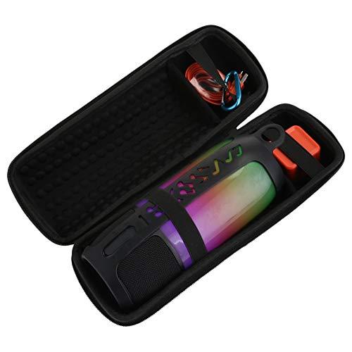 ADDFOO 2 In 1 Harte Eva Tragen Rei?Verschluss Aufbewahrungs Box Tasche + Weiche Silikon Hülle Für Pulse 3 Lautsprecher Für Pulse 3 (Schwarz Und Schwarz)