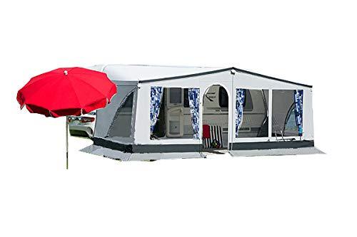 dwt Vorzelt Winner 240 grau Reisezelt Wohnwagenvorzelt Caravan Camping leicht, Größenauswahl:Gr. 13 Umlaufmaß 911-940 cm
