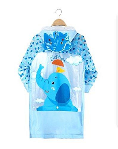 Korean Lovely bébé imperméable Mode enfants pluie éléphant Bleu M