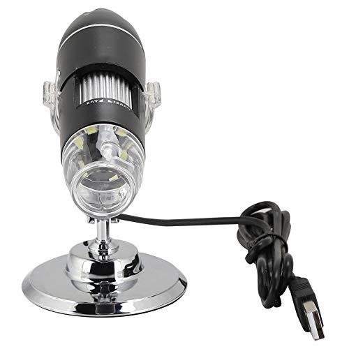 USB Digital Microscope, 1600X Magnification Endoscope HD Microscope with 8 LED Lights, Bracket 3-40mm Manual Focus Portable Mini Microscope Camera Support for Windows 2000/XP, Vista, 7/8/10