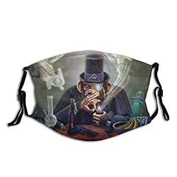 yanfind Beer Bong Cartoons Experience Hand Hat Monkey Monocle Pipe Psychedelic Rogan Smoking UFO Dust Washable Reusable Filter and Reusable Mouth Warm Windproof Cotton Face
