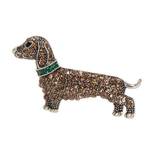 TENDYCOCO - Broche de Cristal para Perros y Cachorros, diseño de Animal
