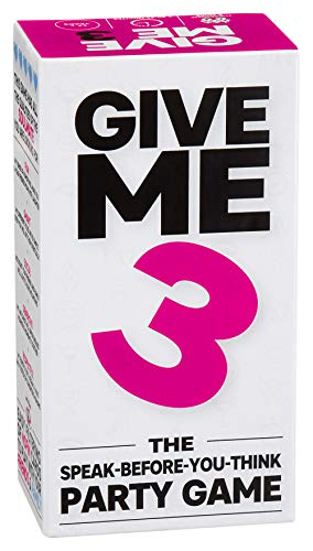 GIVE ME 3 Speak-Before-You-Think Party Game – New Conversation Starter, Fast Paced and Hilarious, 440 Cards to Play with Your Friends or Total Strangers