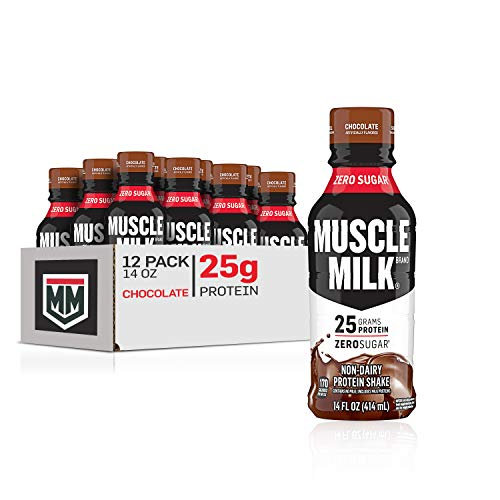 Muscle Milk Genuine Protein Shake, Chocolate, 25g Protein, 14 Fl Oz, 12 Pack