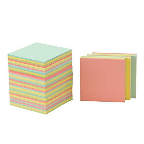 DRROT Super Sticky Notes 75*75 mm, 4 Colori di Raccolta, Blocchetti Memo Adesivi Super Sticky Notepad Mix di Arcobaleno, 100 Fogli, 12 Pastiglie per Confezione