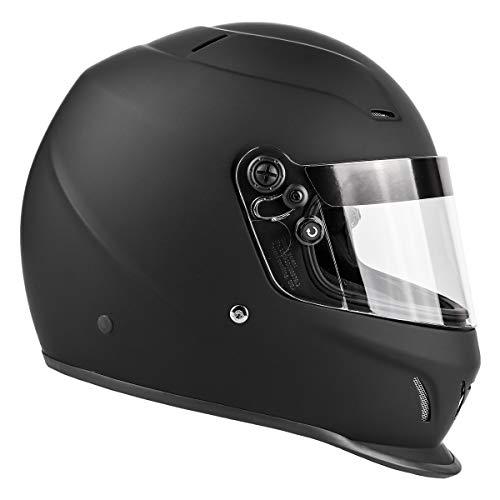 Snell SA2020 Approved Full Face Racing Helmet (Matte Black, Medium)