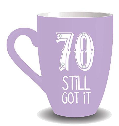 BOXER 70th Birthday Sherbert Fizz Mug avec Cristaux Motif Still Got It